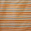 18x18 - Orange/Grey Striped