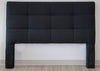 Queen Square Tufted Textured Black