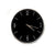 Wall Chrome Metal Hand Black Clock