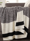 Grey w/ White & Black Stipe Cable Knit