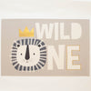 Kids Rectangle Lion Wild One Taupe 3'x5'
