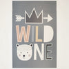 Kids Rectangle Bear Wild One 3' x 5'