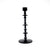 TALL Black Tiered Disk-Shaped Candle Holder