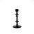 MEDIUM Black Tiered Disk-Shaped Candle Holder