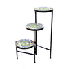 Tiled Top Black Legs 3 Tier