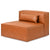 Mix Armless Leather Cognac