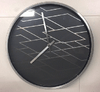 Clock - Black & Silver Geometric