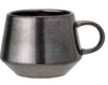 Mug - Black Metallic Glaze w/ Handle