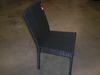 Black Wicker Armless Chair