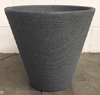 Pot - Large Grey Ribbed