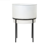 Planter - Roux Large White w/ Attached Stand