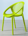Lime Green Plastic Curved Seat