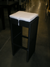 Black Wicker Barstool