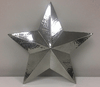 Silver Hammered Metal Star Small 9""
