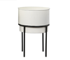 Planter - Roux Small White w/ Attached Stand