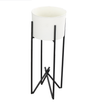 Planter - Tamma Small White w/ Attached Stand