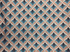 12x16 - Orange, Blue Teal, Cream Pattern