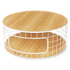 Round White Wireframe Natural Ash