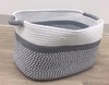 Basket - White & Grey Woven Small
