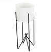 Planter - Tamma Large White w/ Attached Stand