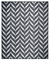 5x7 OUTDOOR / Indoor Black & White Chevron