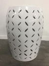 White Ceramic Cylinder with Slits