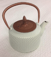 Tea Pot - White & Copper