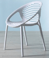 White Plastic Curved Seat