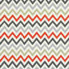 12x16 - Linen Zigzag Grey, Red & Beige