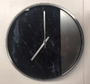 Clock - Black, Silver & Marble