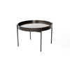 Coppen Round Black w/ Glass Top