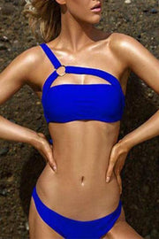 One Off Shoulder Bikini Set