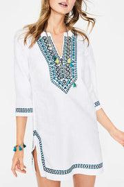 V-Neck Embroidery Cover Up