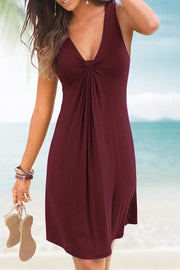 Flowy Knot Detail Mini Dress