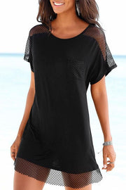 Round Neck Black T-Shirt Dress