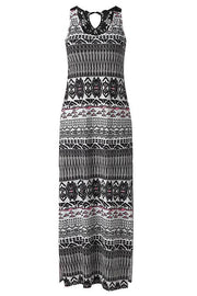 Bohemian Sleeveless Split Maxi Dress
