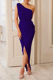 Irregular High Waist Sleeveless Dress