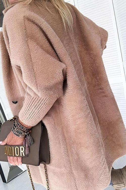 Furry Coat With Thickened Lapels