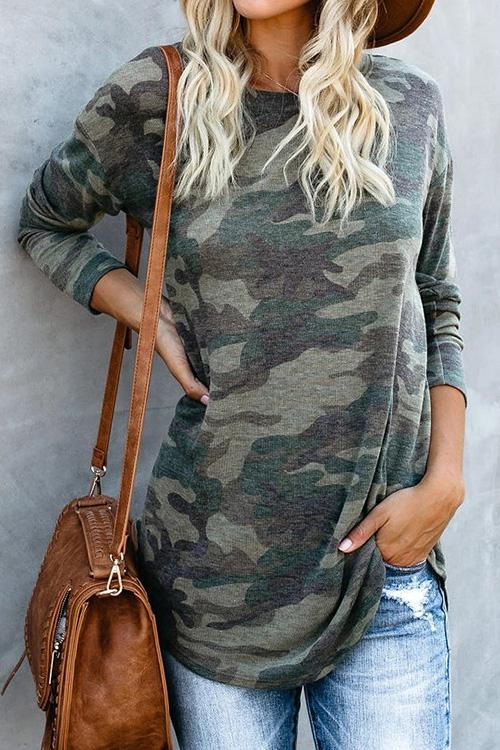 Camouflage Long Sleeve T-Shirt