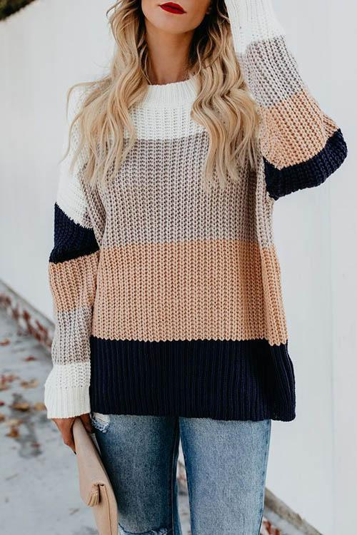 Gradient Pullover Sweater