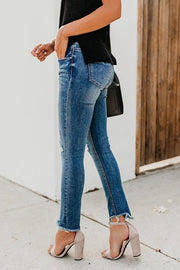 Stretch Fit Ripped Jeans