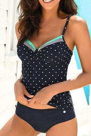 Stripe Wave Dot Tankini