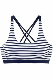 Striped Print Two Piece Bikini