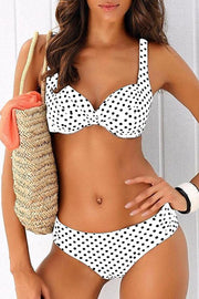 Polka-dot Two Piece Bikini Set