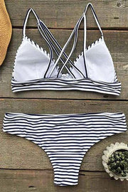 Stripe Two-piece Bikini