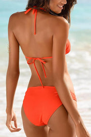 Solid Halter One Piece