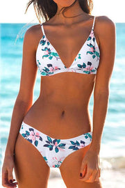 Flower Print  Backless Bikini
