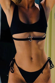 Love Metal Decorative Strap Bikini