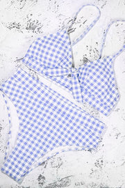 Checked High Waist Bikini