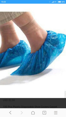 Plastic shoe covers